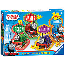 Buy Ravensburger Thomas and Friends 4 Large Shaped Jigsaw Puzzles Online at johnlewis.com