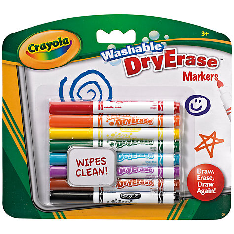 Buy Crayola Washable Dry Erase Markers, Pack of 8 Online at johnlewis.com