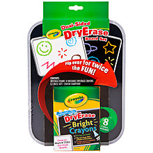 Buy Crayola Dual-Sided Dry Erase Board Set Online at johnlewis.com