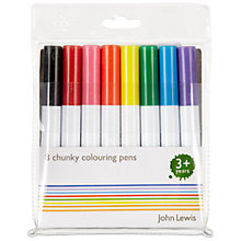 Buy John Lewis Chunky Pens, Pack of 8 Online at johnlewis.com