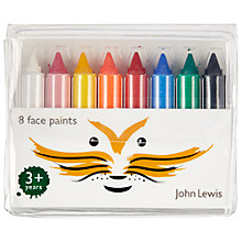 Buy John Lewis Face Paint Sticks, Pack of 8 Online at johnlewis.com