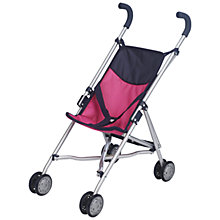 Buy John Lewis Dolls' Roma Stroller, Pink Online at johnlewis.com