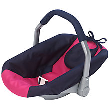 Buy John Lewis Doll's Car Seat, Pink Online at johnlewis.com