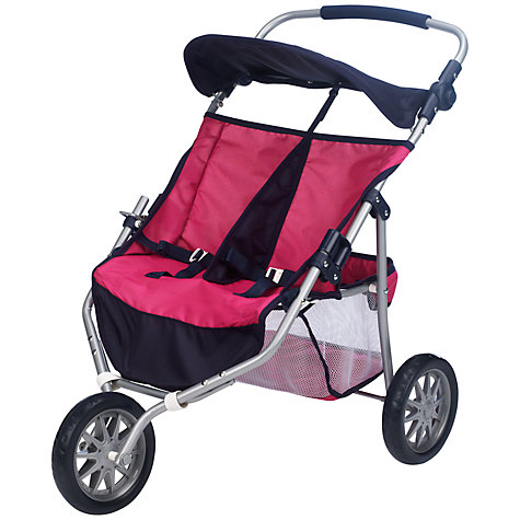 Buy John Lewis Dolls' Twin Jogger, Pink Online at johnlewis.com