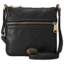 Buy Fossil Explorer Mini Handbag, Black Online at johnlewis.com