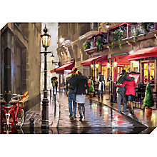Buy Richard Macneil - Night Time Café Print On Canvas, 70 x 100cm Online at johnlewis.com