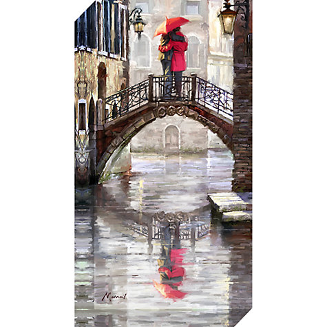 Buy Richard Macneil - Canal Bridge Venice Print on Canvas, 80 x 40cm Online at johnlewis.com