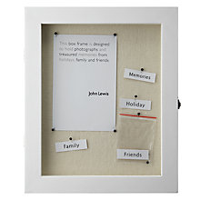 "Buy John Lewis Memory Box Frame, White, 8 x 10"" (20 x 25cm) Online at johnlewis.com"