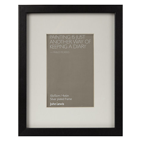 Buy John Lewis Box Frames & Mounts, Black Online at johnlewis.com