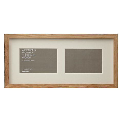 Buy John Lewis Box Frames & Mounts, Oak Online at johnlewis.com