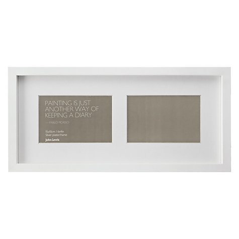 Buy John Lewis Box Frames & Mounts, White Online at johnlewis.com