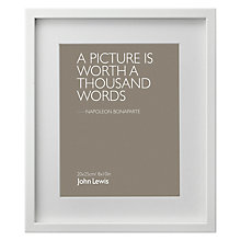 "Buy John Lewis Box Frame & Mount, 8 x 10"" (20 x 25cm) Online at johnlewis.com"