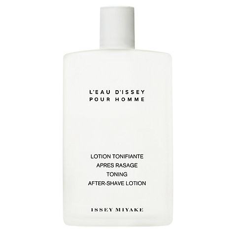 Buy Issey Miyake L'Eau d'Issey pour Homme Toning After-Shave Lotion, 100ml Online at johnlewis.com