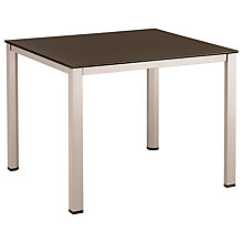 Buy Kettler Basic Plus Square 4 Seater Outdoor Dining Table, Aluminium Online at johnlewis.com