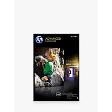 Buy HP Q8692A Advanced Glossy 10x15 Photo Paper, 100 Sheets Online at johnlewis.com