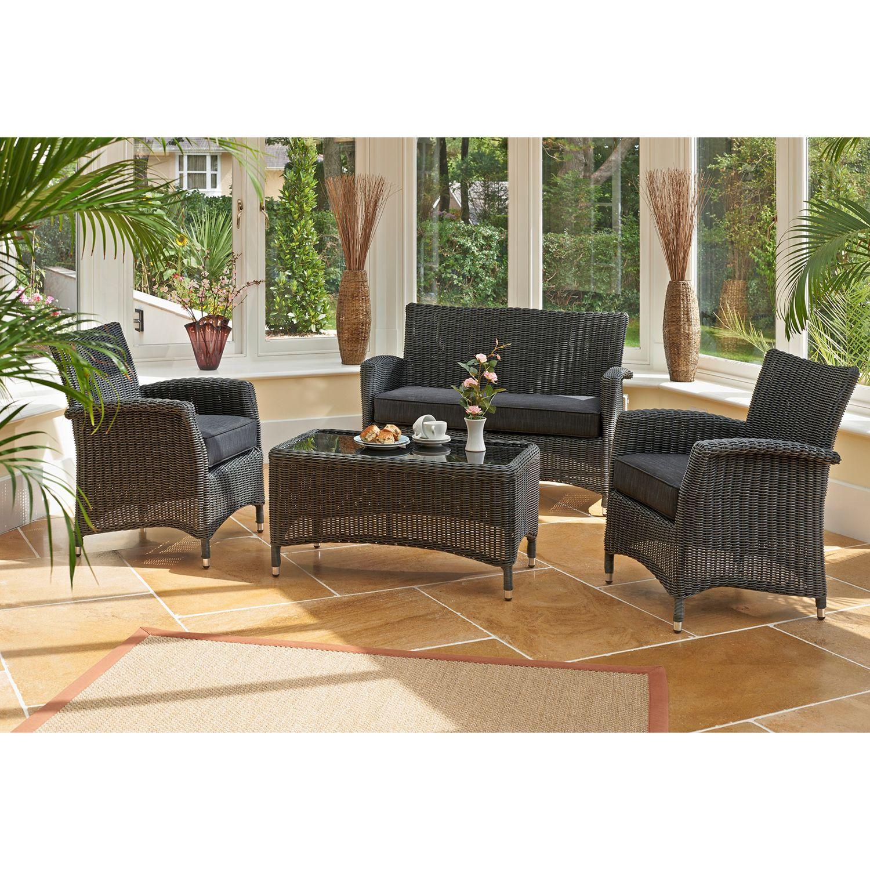 Kettler Lakena Outdoor Lounge Set, Anthracite
