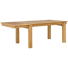 Buy Kettler Vancouver Rectangular 6-8 Seater Outdoor Extending Dining Table, FSC Teak Online at johnlewis.com