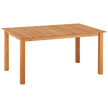 Buy Kettler Yukon Rectangular 6 Seater Outdoor Dining Table, FSC Teak Online at johnlewis.com