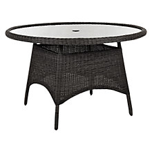 Buy Kettler Round 4 Seater Outdoor Dining Table, Synthetic Wicker Online at johnlewis.com