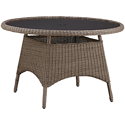 KETTLER Round 4 Seater Synthetic Wicker Outdoor Dining Table