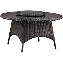 Buy Kettler Round 6 Seater Synthetic Wicker Outdoor Dining Tables Online at johnlewis.com