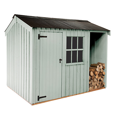 Buy National Trust by Crane Blickling FSC Garden Shed, 1.8x3m Online at johnlewis.com