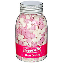 Buy Pink & White Heart Sugar Sprinkles, 90g Online at johnlewis.com