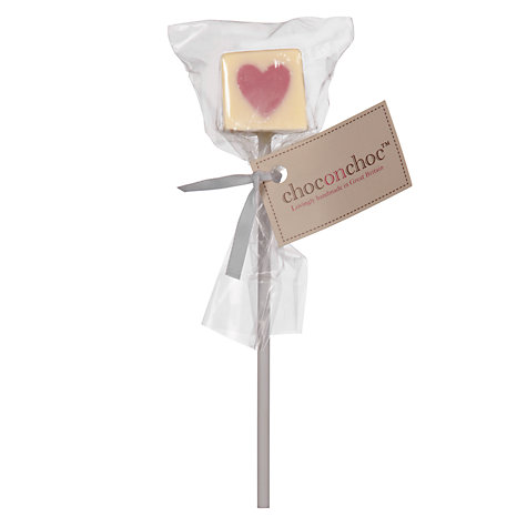 Buy Choc on Choc Pink Heart Lolly Favour Online at johnlewis.com