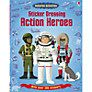 Sticker Dressing Action Heroes Book