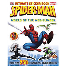 Buy Spider-Man World of the Web-Slinger Ultimate Sticker Book Online at johnlewis.com