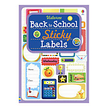 Buy Usborne Back to School Sticky Labels Online at johnlewis.com