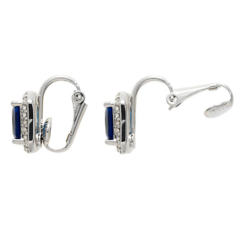 Buy Carolee Rectangular Button Crystal Clip Earrings Online at johnlewis.com