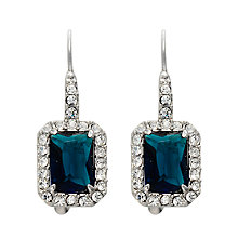 Buy Carolee Simply Blue Rectangular Drop Earrings, Emerald Online at johnlewis.com