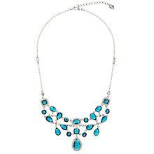 Buy Carolee Clustered Necklace with Teardrop Pendant, Blue Online at johnlewis.com