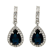 Buy Carolee Simply Blue Half Hoop Pear Drop Earrings, Navy Online at johnlewis.com