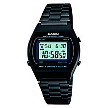 Buy Casio B640WB-1AEF Men's Digital Bracelet Strap Watch, Black Online at johnlewis.com