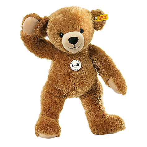Buy Steiff Happy Teddy Bear, Brown, 28cm Online at johnlewis.com