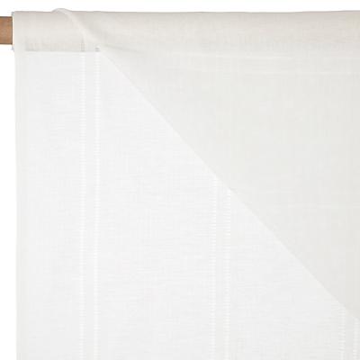 John Lewis Ladder Stitch Unheaded Voile Fabric, Cream, Drop 150cm