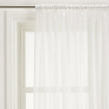 Buy John Lewis Shimmer Voile Fabric, White Online at johnlewis.com