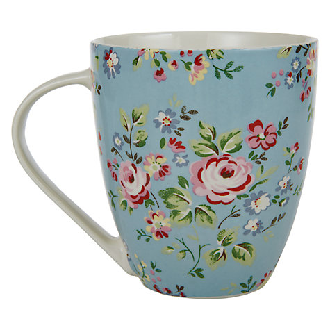 Buy Cath Kidston Crush Mug, Chelsea Rose, Blue Online at johnlewis.com