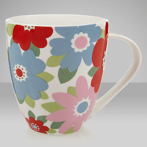 Buy Cath Kidston Crush Mug, Retro Flowers, Blue Online at johnlewis.com