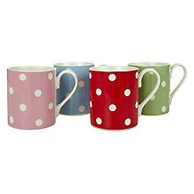 Buy Cath Kidston Dotty Mugs, Set of 4 Online at johnlewis.com