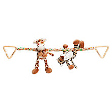 Buy Teddykompaniet Giraffe and Tiger Pram Toy Online at johnlewis.com