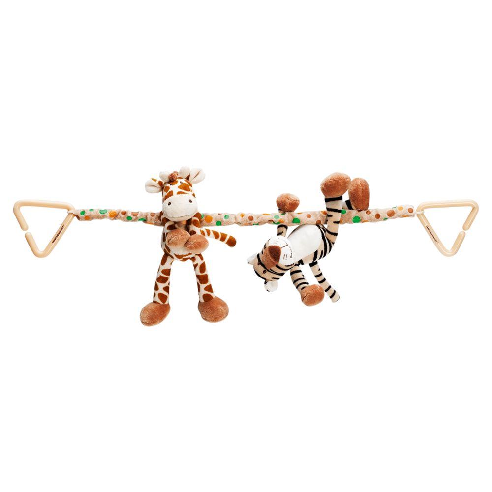 Teddykompaniet Teddykompaniet Giraffe and Tiger Pram Toy