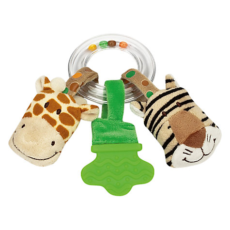 Buy Teddykompaniet Diinglisar Giraffe and Tiger Ring Rattle Online at johnlewis.com