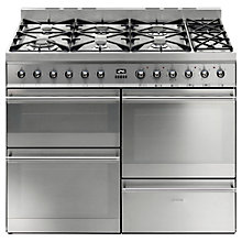 Buy Smeg SY4110-8 Dual Fuel Range Cooker, Stainless Steel Online at johnlewis.com