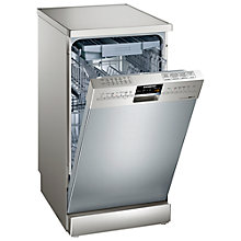 Buy Siemens SR26T890GB Slimline Freestanding Dishwasher, Stainless Steel Online at johnlewis.com