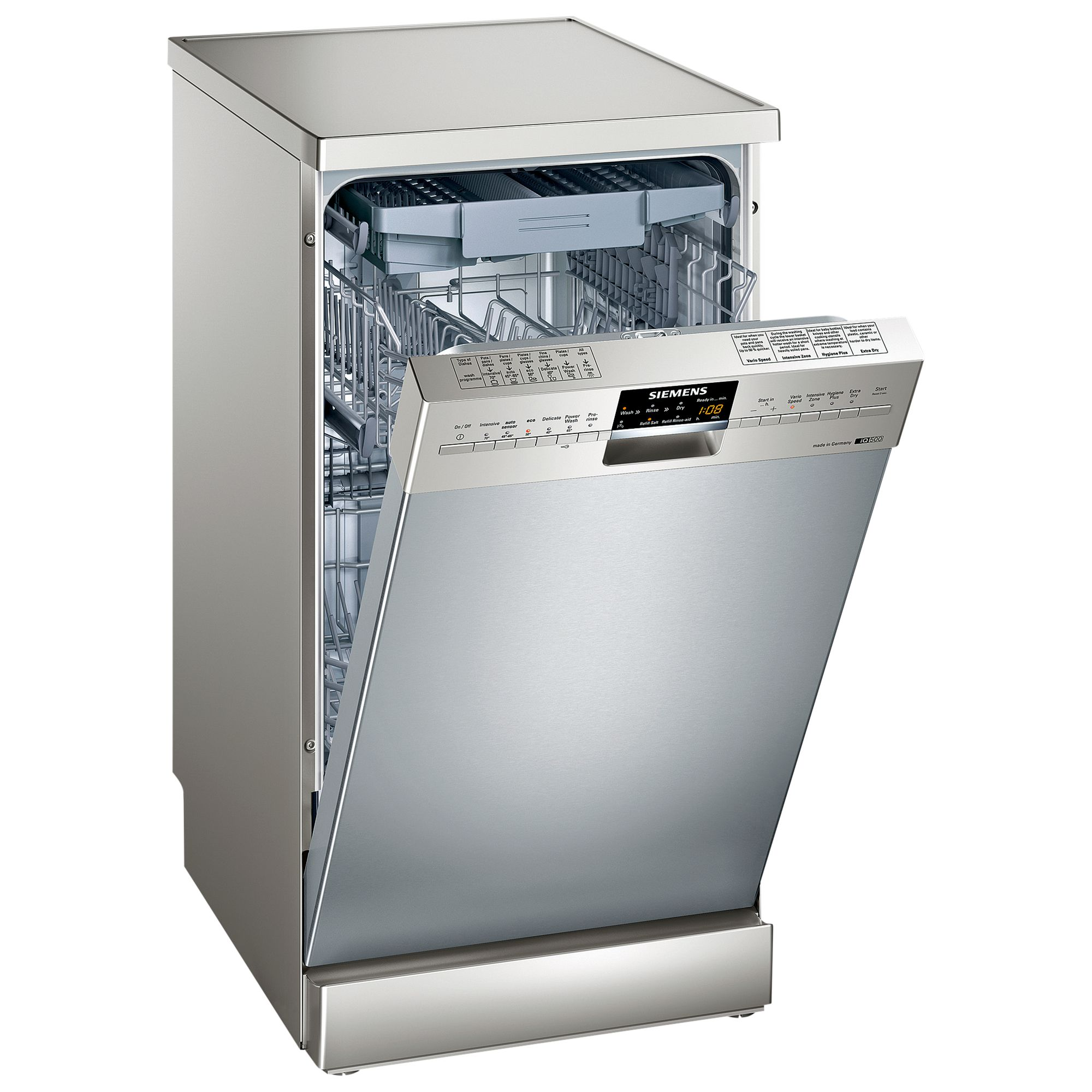 Siemens SR26T890GB Slimline Dishwasher Stainless Steel