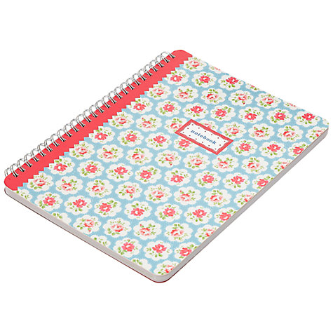 Buy Cath Kidston Blue Spray Notebook, A5 Online at johnlewis.com