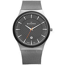 Buy Skagen 234XXLT Men's Round Titanium Mesh Bracelet Watch Online at johnlewis.com